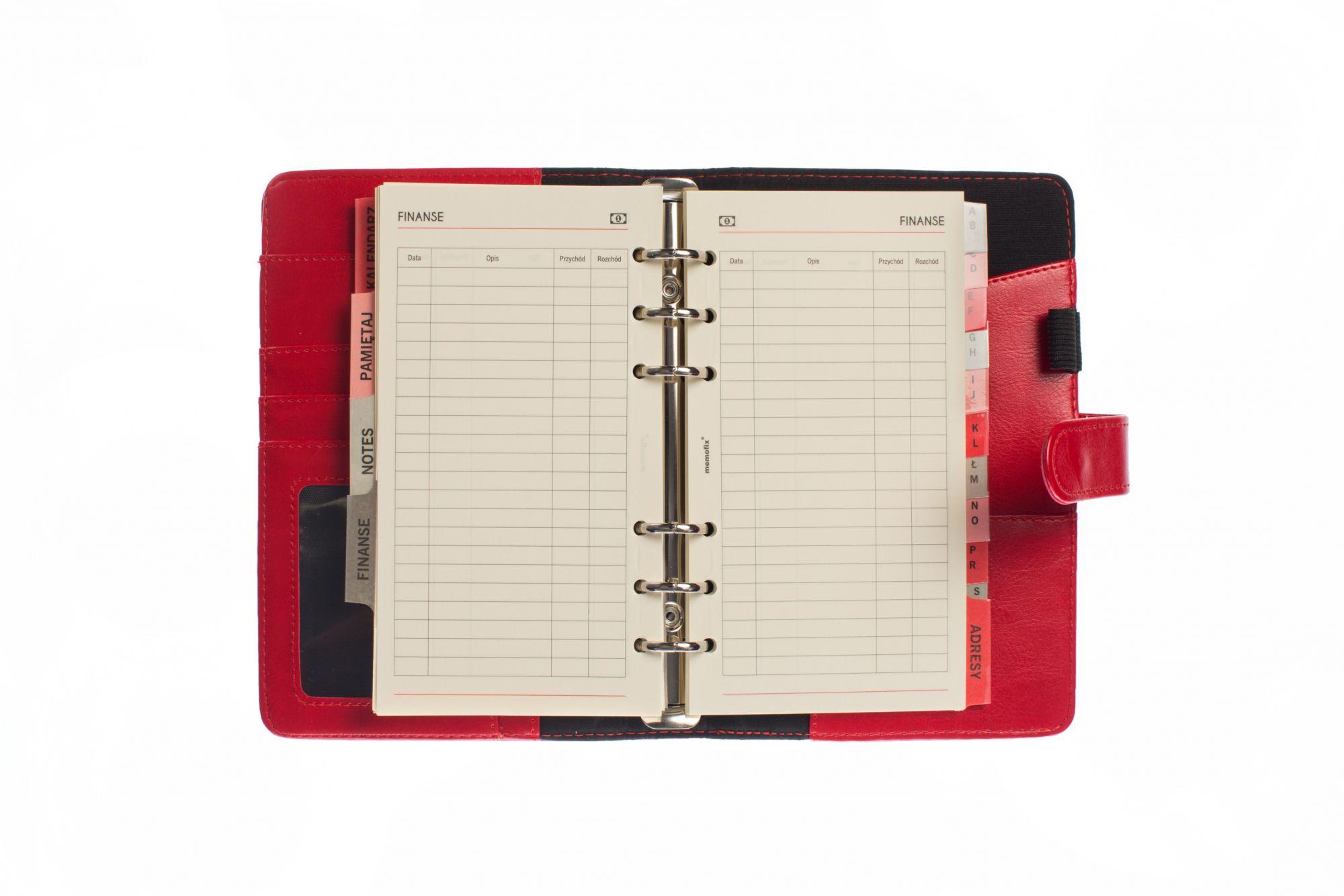 organizer memofix 2 st 3 czerwony