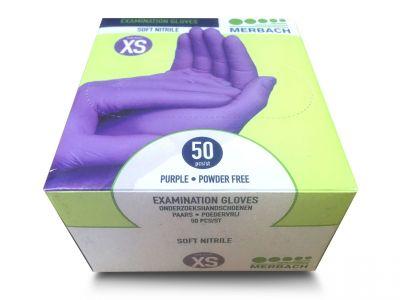 Rękawiczki NITRYL XS 50 szt.  fioletowe